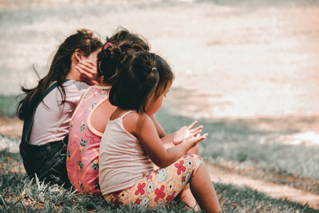 Children on a hill